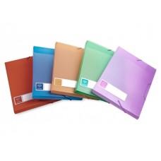 Папка архивная пластик на резинке А5 4см цветная Crystal Бюрократ CR510A5
